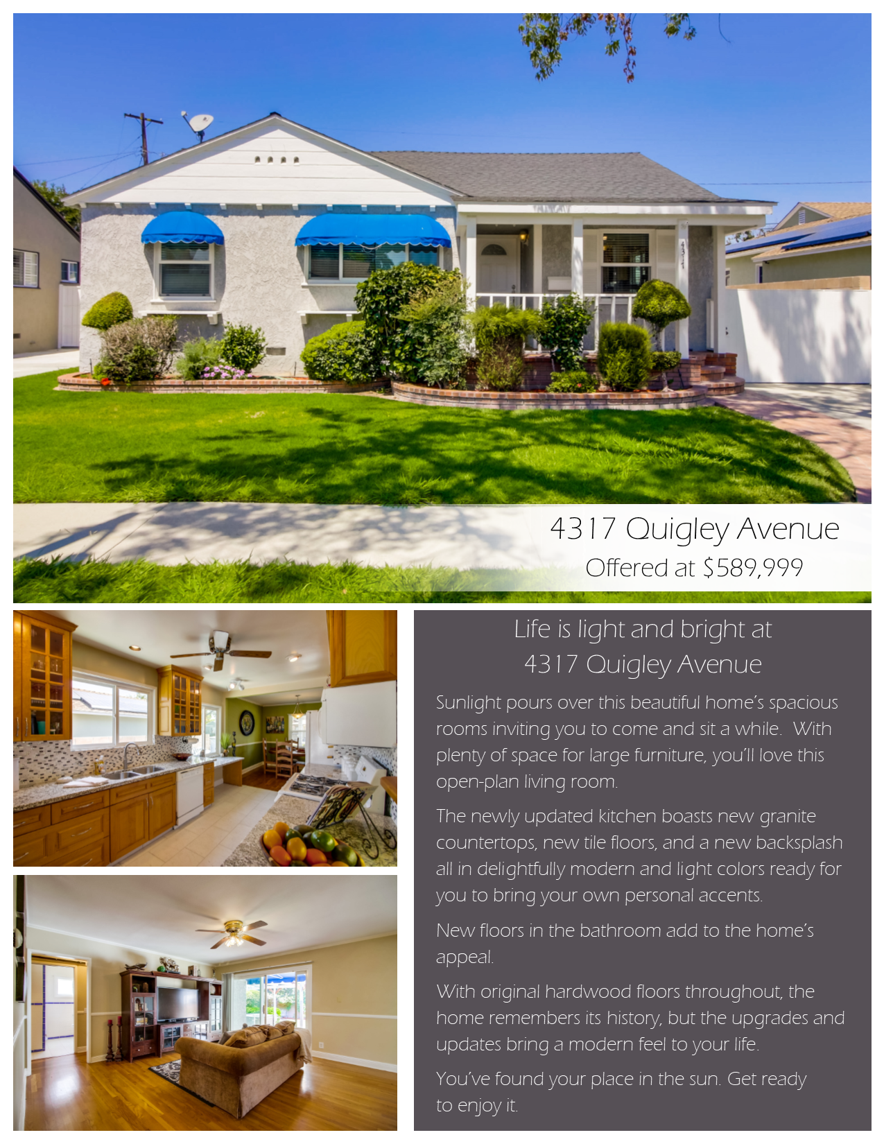 4317 Quigley Avenue for sale in Lakewood, California.