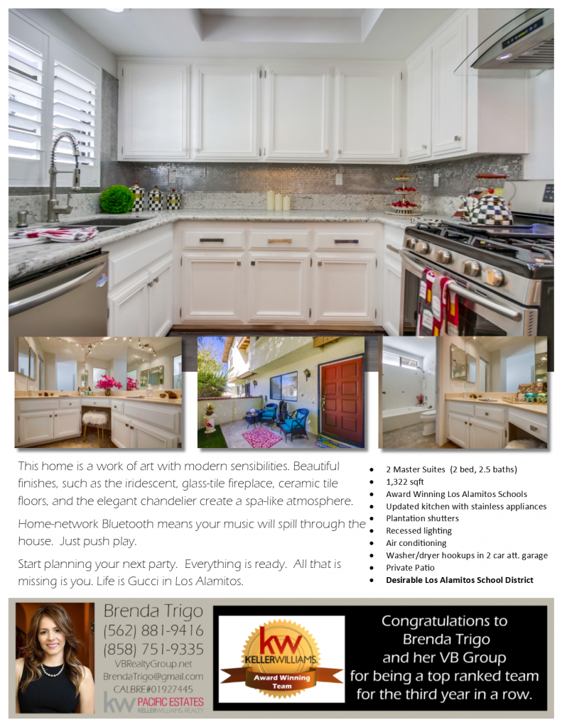 11132 Noel St, #2 in Los Alamitos, California offered by your Top Orange County Realtor, Brenda Trigo.