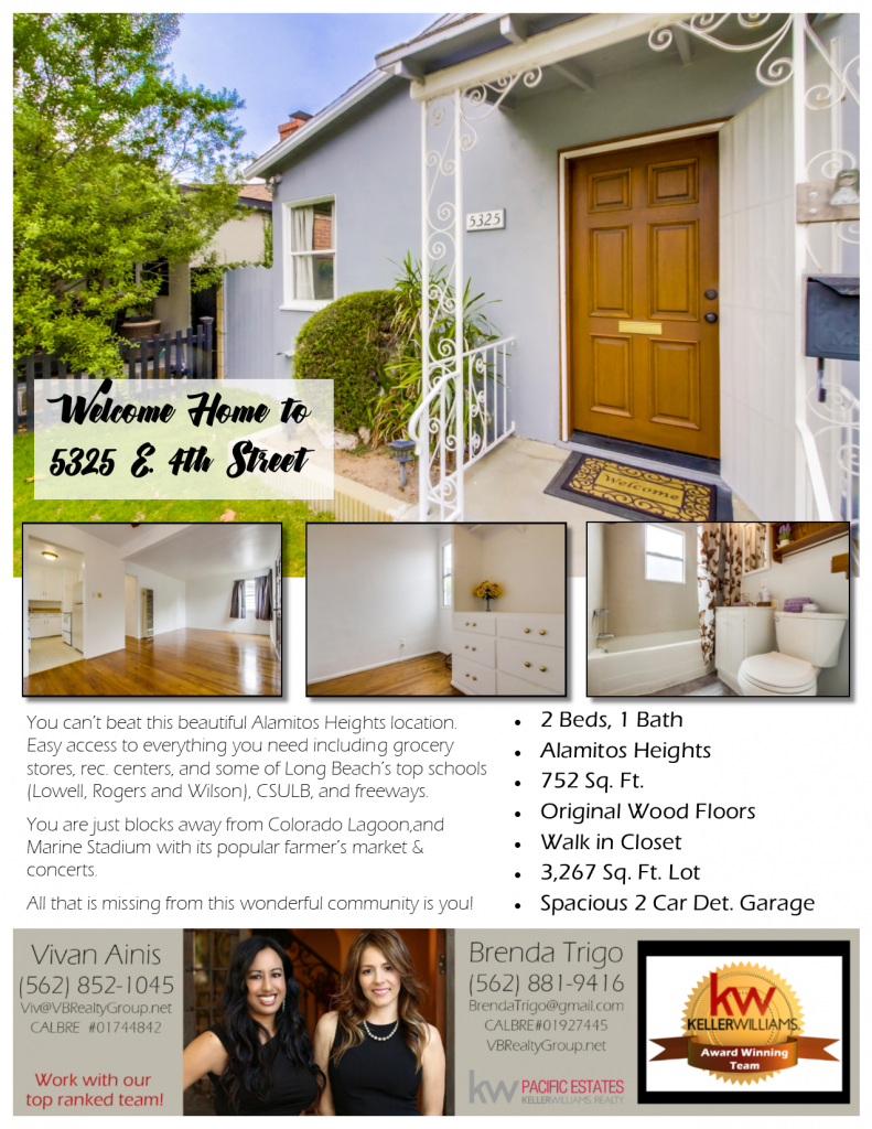 5325 E 4th Street, Listed by Long Beach's Best Realtor