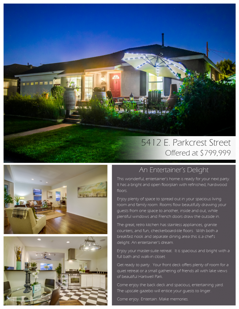 5412 E Parkcrest Street offered by Top Ranked Long Beach Realtor, Brenda Trigo.