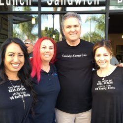 Vivan Ainis (VB Realty Group), Allison Castellanos (Allison Tutoring), Mayor Jeff Wood, Brenda Trigo (Vb Realty Group)